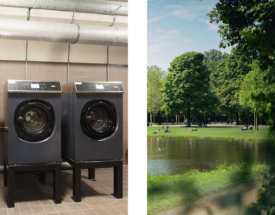 wasmachines en vondelpark